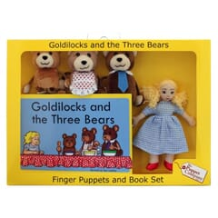 Goldilocks and the Three Bears Puppet Story Set with book