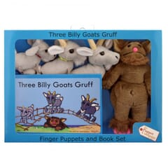 Three Billy Goats Gruff Puppet Story Set with book