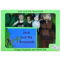 Jack and the Beanstalk Puppet set in a box with book