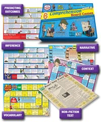 6 Comprehension Board Games - Level 2