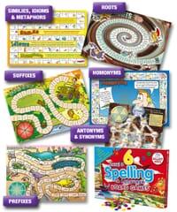 6 Spelling Board Games - Level 3