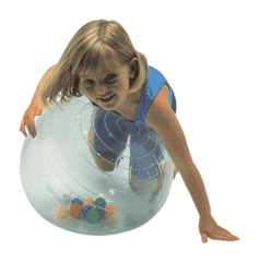 transparent therapy ball