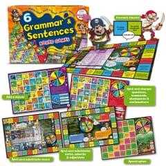 6 Grammar & Sentences Board Games