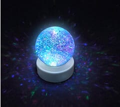 Light up colour changing liquid glitter ball