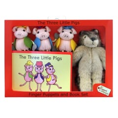 Three Little Pigs Puppet Story Set with book